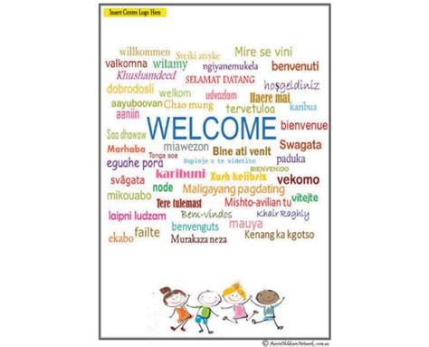 welcome page templates welcome pack aussie childcare network