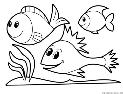 Fish Coloring Pages For Kindergarten | fish coloring page preschool coloring home
