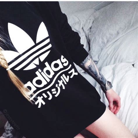 sweater adidas writing wheretoget