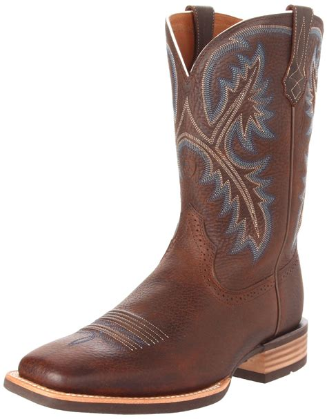 mens western boot ariat ariat mens quickdraw western boot in brown for