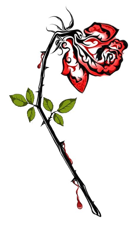 wilting rose tattoo photo by claude berger