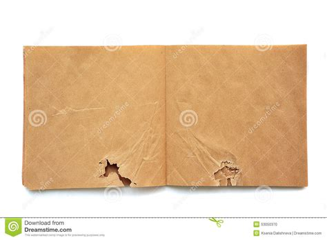 sketchbook recycled paper crumpled open brown skatchbook stock photo image 53050370