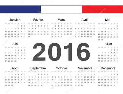 Calendrier 2016 Francais Vecto Fran 231 Ais Rcircle Calendrier 2016 Image Vectorielle