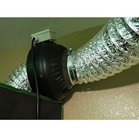 diy inline fan muffler vivosun 25 feet 6 inch non insulated flex air aluminum