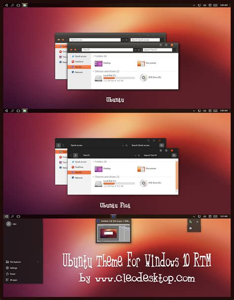 themes windows 10 ubuntu ubuntu theme for windows 10 rtm windows10 themes i