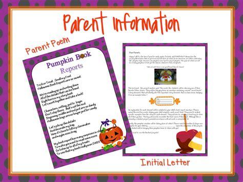 Pumpkin Book Report Template by Hoppin Pumpkin Book Reports