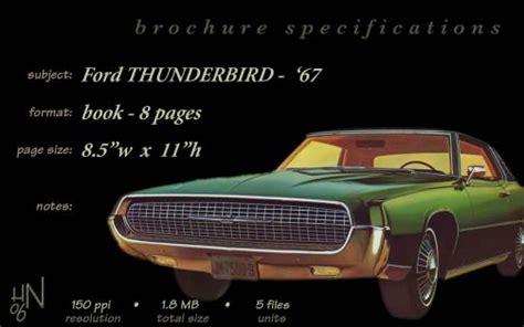 free car manuals to download 1967 ford thunderbird user handbook 1967 ford thunderbird brochure