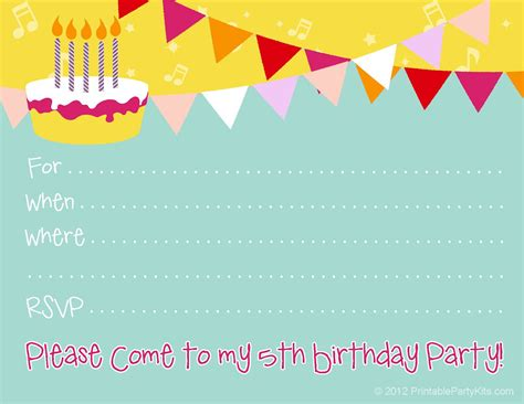 downloadable birthday invitation templates birthday invitations birthday invite template