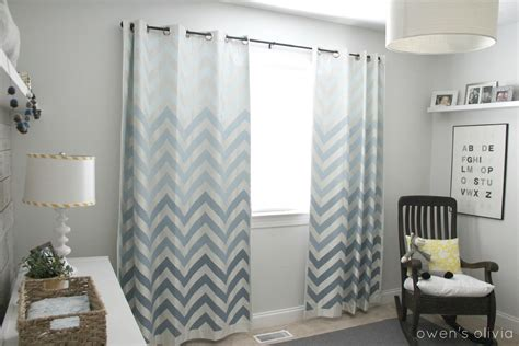 grey nursery curtains ombre chevron curtains in boys nursery