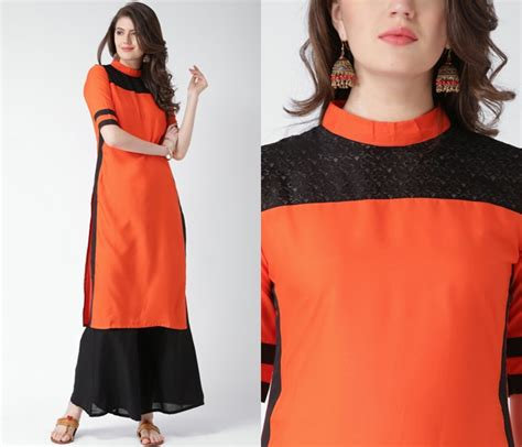 Kurta Colors by 11 Simple Neck Designs For Kurtis With Laces Keep Me Stylish