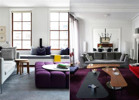 farben im wohnraum aubergine farbe kombinieren und im wohnraum einsetzen