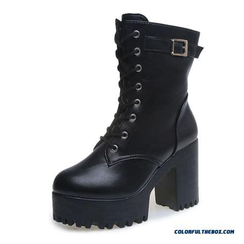 half boots cheap s shoes half boots thick heel toe retro