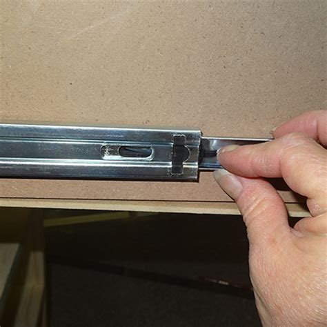How To Separate Drawer Slides by How To Remove A Drawer With Metal Slides Chest Of Drawers