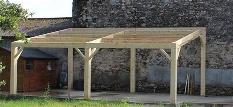 Garage En Bois En Kit 330 by Construire Une Charpente En Bois 1 Pente Uf51 Jornalagora