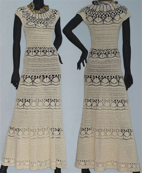 Dress With Pattern boho dress pattern maxi crochet dress for wedding