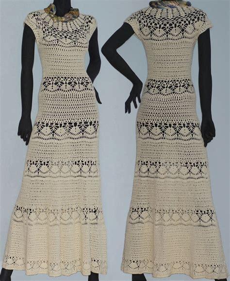 Boho dress PATTERN, maxi crochet dress for beach wedding
