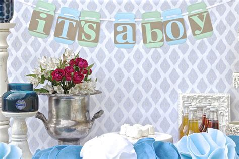 Jars For Baby Shower by Jar Baby Shower Rustic Baby Chic