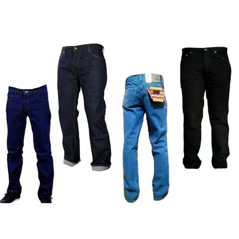 Celana Denim Fallas Regular Standar Fit Basic Size 27 32 celana basic regular lurus murah elevenia