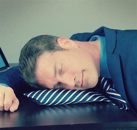 pillow tie an necktie for naps at work