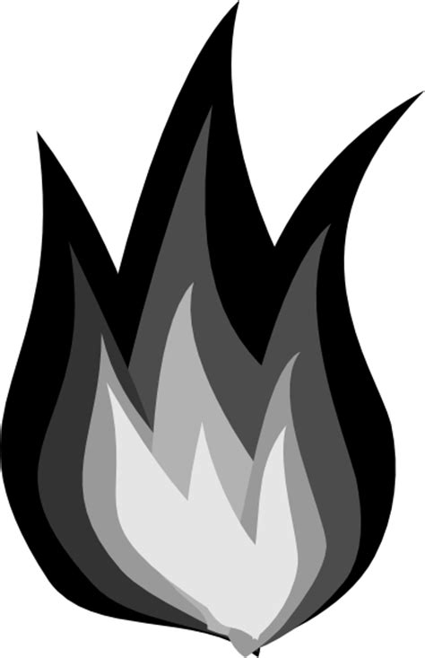 Black And White Flame Clipart | Clipart Panda - Free