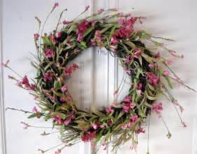 Spring Wreath spring wreath spring flowers grapevine wreath pink
