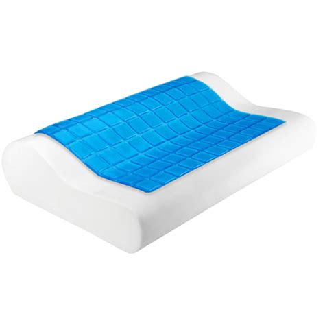 Cool Gel Top Memory Foam Pillow by Home Outdoors Direct Set Of 2 Cool Gel Top Memory Foam