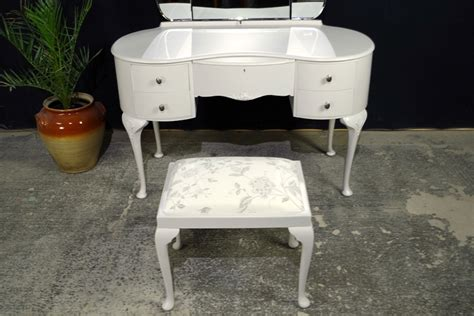 Vintage Dressing Table Stool by Vintage Style Walnut Dressing Table With Stool