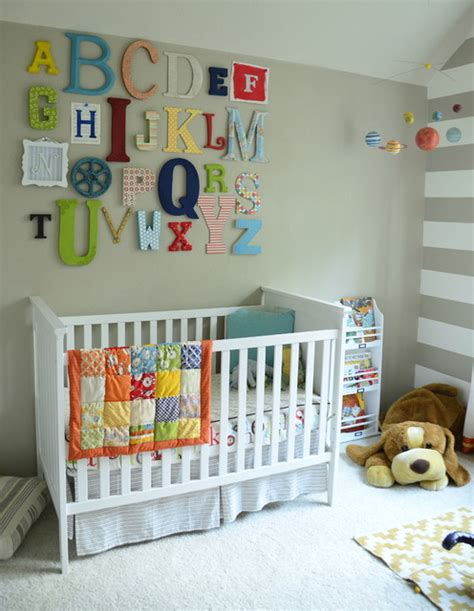 Alphabet Decor by Alphabet Wall Transitional Nursery