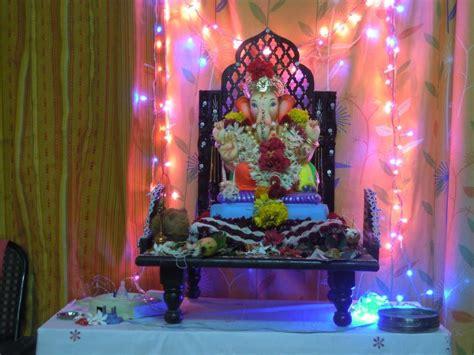 simple ganpati decoration ideas   home