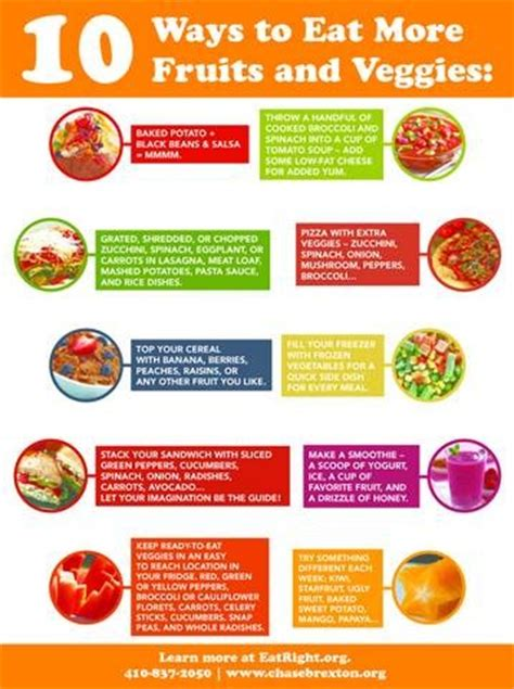 7 Ways To Eat More Fruits Veggies by 10 Ways To Eat More Fruits And Veggies Health And