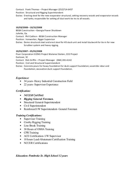ironworker resume resume ideas