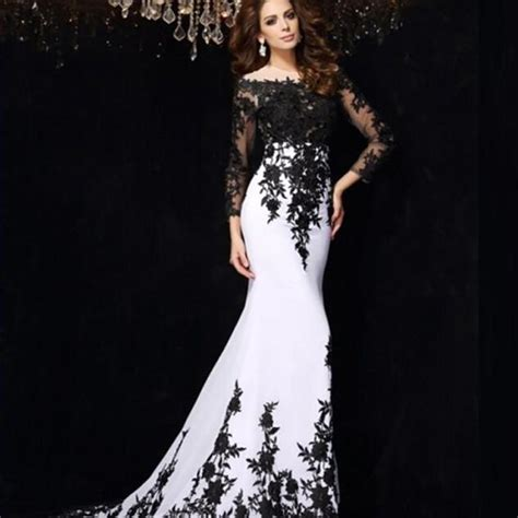 Longdress Matahari aliexpress buy saudi arabia white chiffon black lace