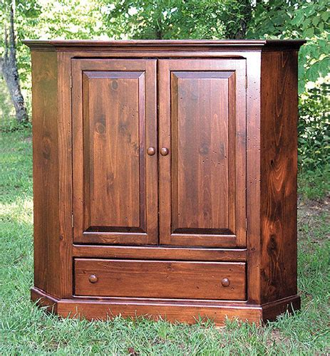 Corner Tv Armoire With Doors by Southern Craftsmen S Guild Product Details