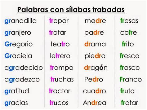 las silabas en espanol para ninos best 25 silabas trabadas ideas on pinterest silabas