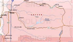 county oregon color map