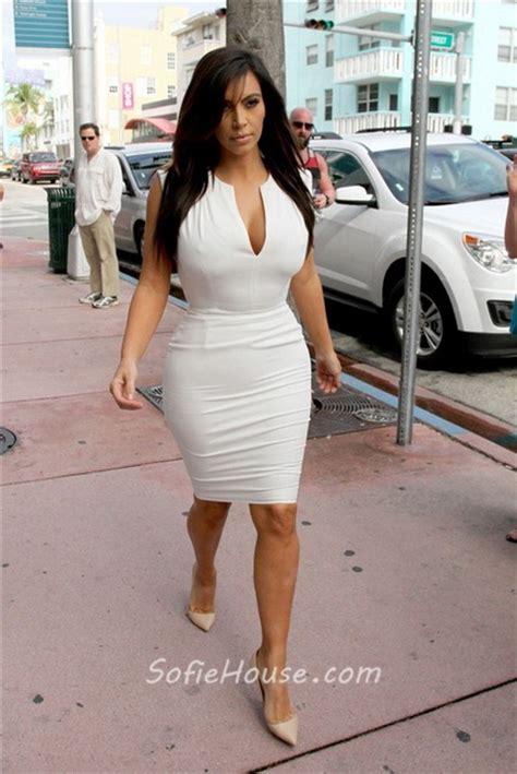 short tight white dresses