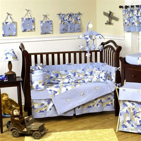 Camo Blue Baby Crib Bedding Set By Jojo Designs Blue Camo Baby Boy Crib Bedding