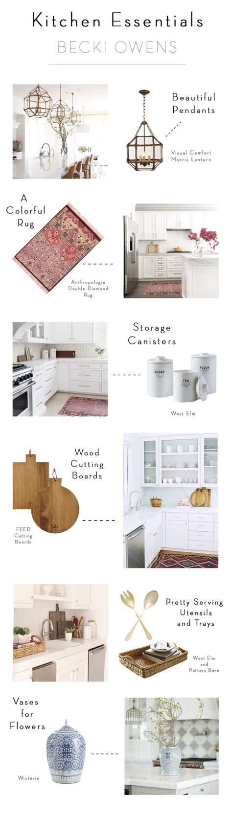 kitchen design essentials kitchen styling becki owens