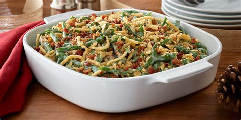bacon  green bean casserole deluxe recipes