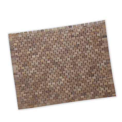 tappeti doccia tappeto rettangolare per piatto box doccia av39 60x80 teak ibb