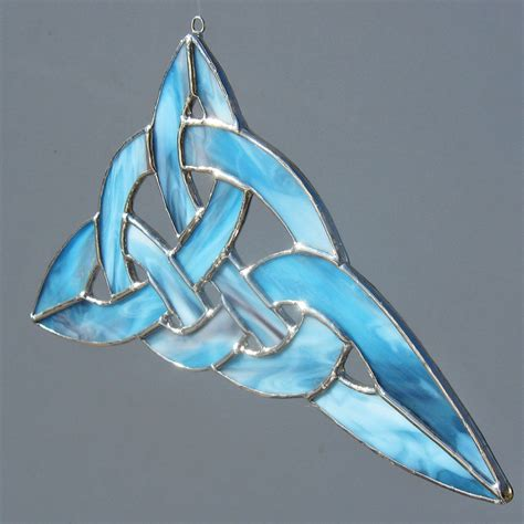 pagan home decor etsy celtic knot stained glass suncatcher and home decor