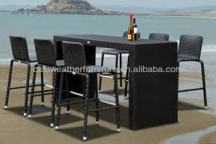 Patio Pub Set 6 Person Outdoor High Top Bar Tables And Chairs Buy
