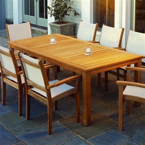 wainscott square outdoor dining teak table kingsley bate wainscott teak 85 rectangular dining table