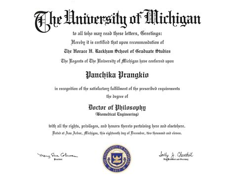 Of Michigan Phd Mba Dual Degree by Ot Degrees Earned At Um Flint Or Um Dearborn Mgoblog