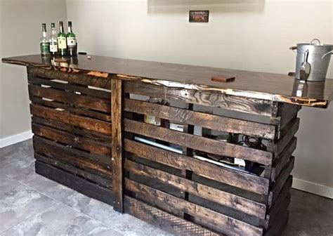 pallet bar top recycled pallet wood bar ideas pallet wood projects