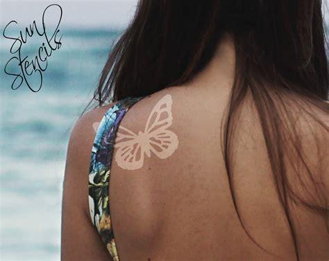 new tattoo tanning sun tan tattoo butterfly design tanning sticker temporary