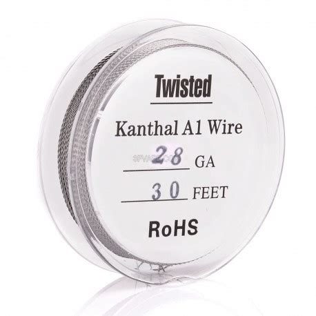 Sale Kanthal Wire 28 Awg Kantal Khantal authentic kanthal a1 28 awg x 2 0 32mm twisted heating