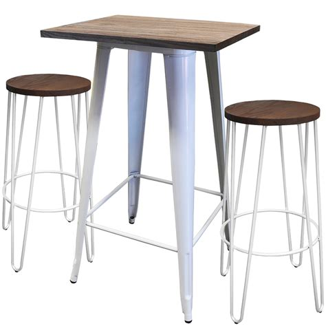 Tolix Bar Table Tolix Bar Table Small Two Hairpin Bar Stools Chairforce