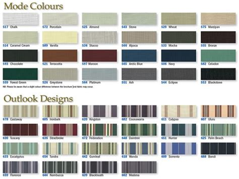 Awning Colours by Sunesta And Sunbusta Awnings With Drop Arm System