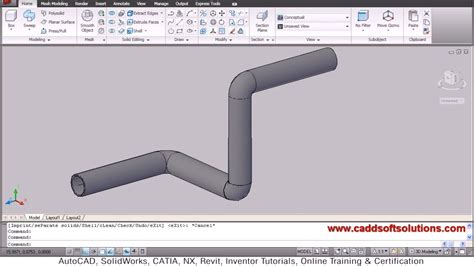 tutorial autocad piping autocad 3d pipe 3d piping tutorial youtube